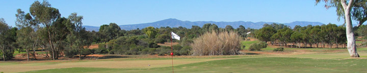 Port Augusta Golf Course showing Flinders Ranges in background